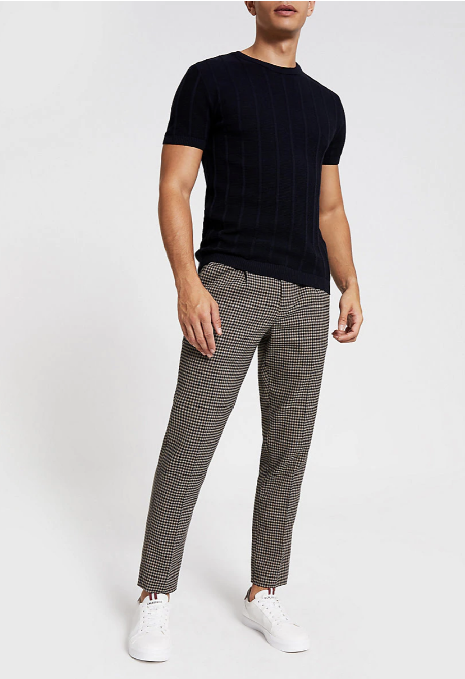 Mens check trousers