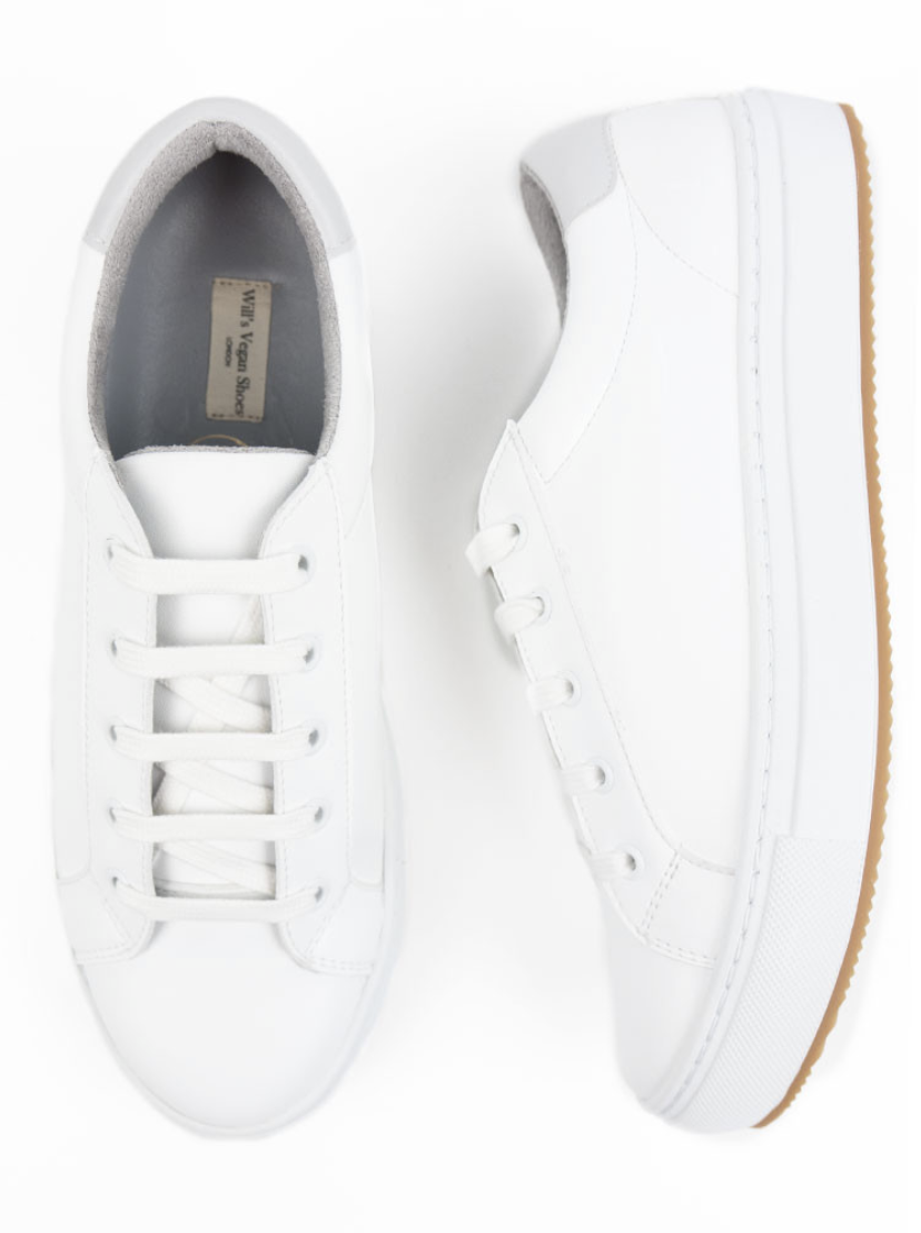 vegan leather trainers