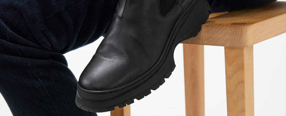 mens chunky sole boots