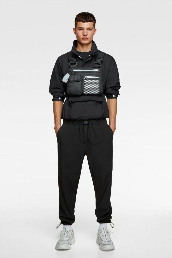 Black chest bag for men from Zara | Vanityforbes